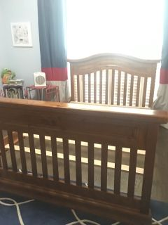 Full size bed that converts to baby bed