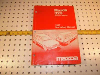 Purchase Mazda 1987 323 station Wagon workshop Repair 1 Manual, 9999-950218-87, MAZDA motorcycle in Rocklin, California, United States, for US $75.00
