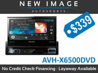$339, PIONEER AVH-X6500 dvd  7 flipout dvd receiver