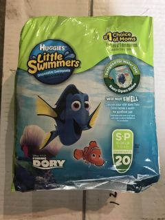 Huggies Little Swimmers size S P 16-26 lb - new in package - 20 count