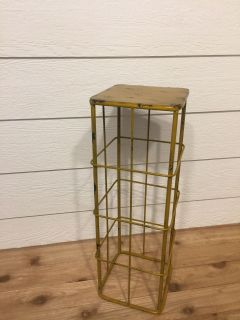 Mustard colored plant stand-metal