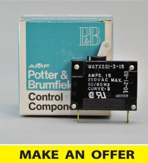 Buy NIB POTTER & BRUMFIELD BOAT MARINE RV AIRPLANE 15 Amp CIRCUIT BREAKER AC DC motorcycle in Reseda, California, United States, for US $9.95