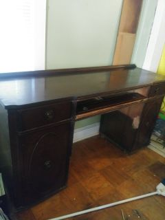 OLD Buffet used for computer desk- Mahogany
