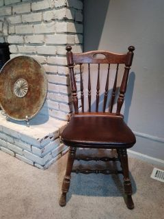 Old accent chair