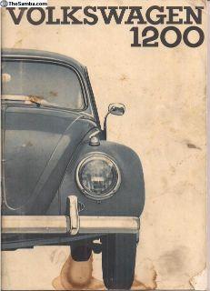 1964 Bug Beetle Owner's Instruction Manual