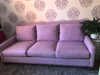Couch Sofa Lilac Fabric