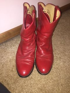 Red Roper cowboy boot