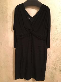 Washed but never worn, Jones New York, size 14. Black with twist front top and tiered skirt. 3/4 sleeves