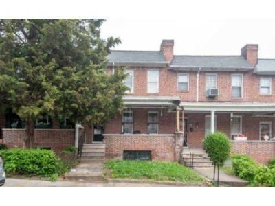 3 Bed 1 Bath Foreclosure Property in Baltimore, MD 21216 - Ruxton Ave