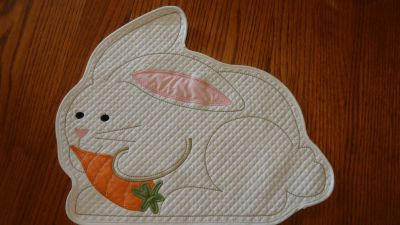 Cute Bunny Placemat approx 14x16""