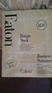Private stock business stationary