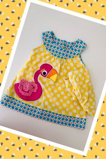 Adorable Nursery Rhymes Dress W/Matching Diaper Cover