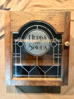 AWESOME VINTAGE WOOD SPICE RACK!