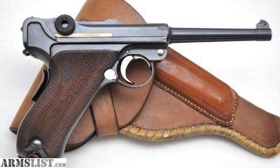 For Sale: EXCEPTIONAL DWM 1906 COMMERCIAL 7.65MM LUGER WITH RARE COMMERCIAL HEISER STYLE HOLSTER!