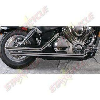 """Find 95-03 Kawasaki VN800 Vulcan Slash Back Staggered 2-1/4"""" Chrome Exhaust System motorcycle in Lebec, California, US, for US $316.95"""