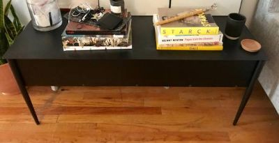 Rolled Iron Media Console,Coffee or Side Table