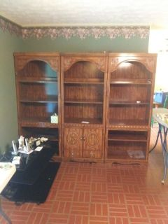 wall units, dresser,kitchen table 4 chairs,bed queen, entertaimbnment center