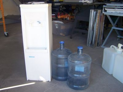 Water cooler, Dispenser, and Misc. Bottles