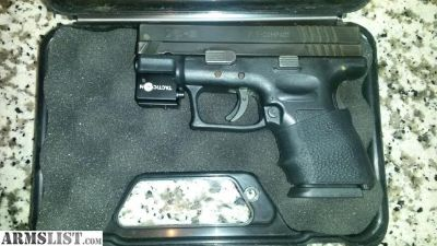 For Sale: Springfield XD-9 Sub-Compact w/Laser