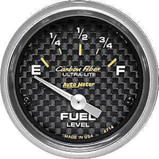 Sell Auto Meter 4714 Carbon Fiber Fuel Level Gauge Fits most 1965-Up GM vehicles motorcycle in Delaware, Ohio, United States, for US $63.95