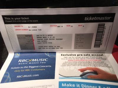 Rob Thomas tickets (2)
