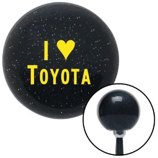 Buy Yellow I <3 TOYOTA Black Metal Flake Shift Knob with M16x1.5 Insertleather stick motorcycle in Portland, Oregon, United States, for US $29.97