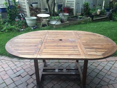 Teak outdoor table