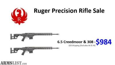 For Sale: Ruger Precision Rifle 6.5 Creedmoor Gen 2 $984! S/H $24.95