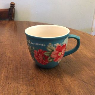 Pioneer Woman Floral Teal 16oz Mug, item #1, swipes to see all photos.
