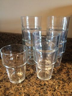 9 stackable glasses