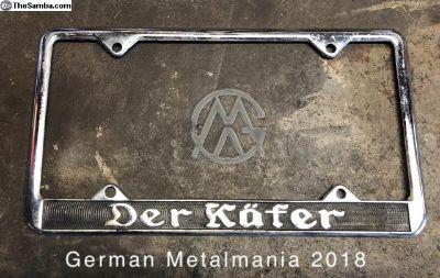 Der K fer license plate frame