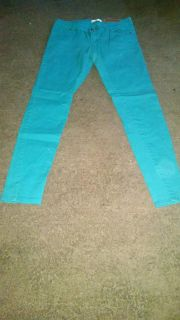 Bright blue jeans