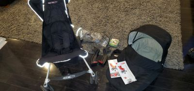 Micralite Fasfold Stroller, Bassinet and Accessories
