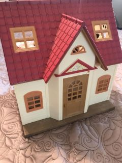 Calico Critter Cottage & Cat Family