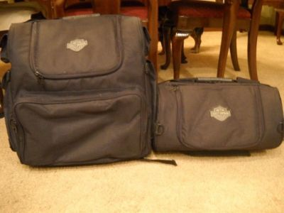 Two Traveling Harley Bags