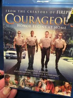Courageous. Blue ray disc - new is sealed