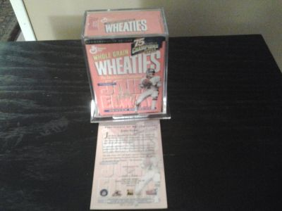 Vintage Mini Wheaties John Elway Encased Football/Sports Collectable