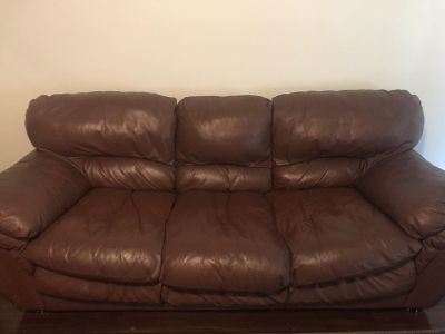 Italian leather couch - like new - OBO