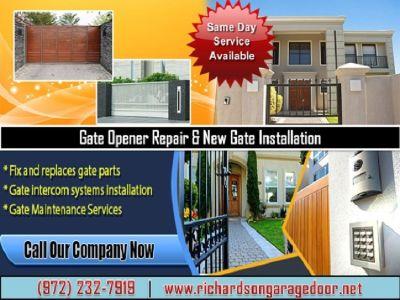 Residential Gate Opener Repair in Richardson, TX | Call us (972) 232-7919
