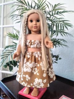 """Hula Outfit for American Girl and most 18"""" dolls"""