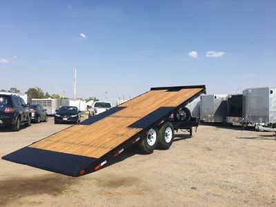Deckover Tilt Bed Trailer, Heavy Duty Equipment Trailer,  Big Tex 14OT-24