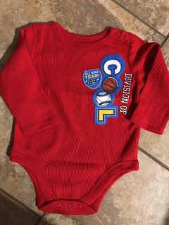 Division Of COOL Red Thermal Long Sleeve Onesie Playsuit. Perfect Condition. Size 3-6 Months