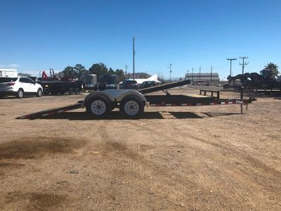 7x18 Tilt Car Hauler, Full Tilt Equipment Trailer,   GVWR 9899 lb, PJ Tilt Trailer T5182