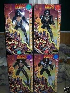 KISS collectible dolls ,,ALL 4 1998 tour