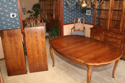 "Ethan Allen Dining Room Table ""Country French"" Collection"