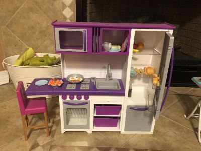 OUR GENERATION KITCHEN AND LAUNDRY PLAY SETS