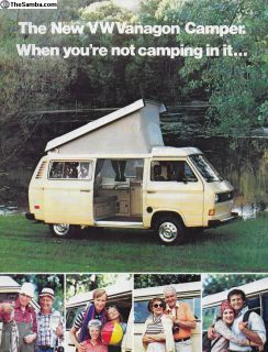 1981 Vanagon Westfalia Westy Camper Brochure