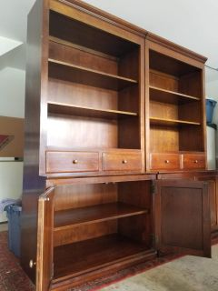 Solid wood bookcases 50$ obo