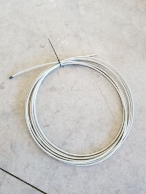 Coated cable, approx 15'