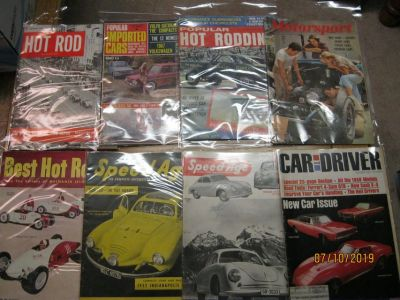 OVER 100 COLLECTIBLE CAR MAGAZINES...1950'S AND NEWER